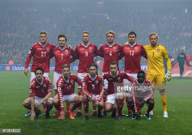 Copenhagen Denmark 11 November 2017 The Denmark team prior to the FIFA 2018 World Cup Qualifier Playoff 1st Leg match between Denmark and Republic of...