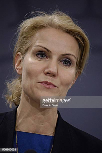 Copenhagen /Denmark 18 December 2013 MsHelle ThorningSchimdt prime minister of denmark 'holds her last press conference before christmas holiday and...
