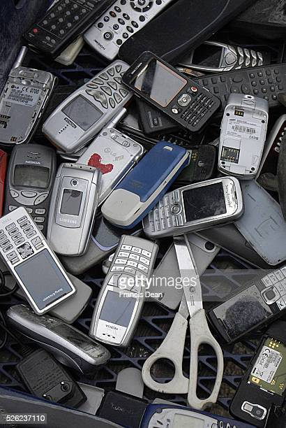 Copenhagen / Denmark _Sunday flea market has become as immigrant flea amrket with old radio telephones and other electric items and old cloths...