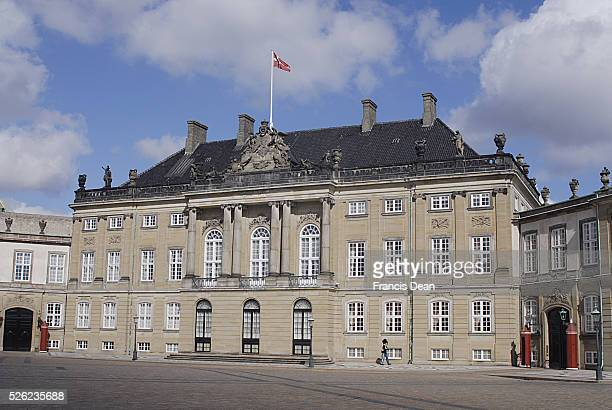 Copenhagen / Denmark Amaliemborg palace sq and amalie park on sunday 28 April 2013