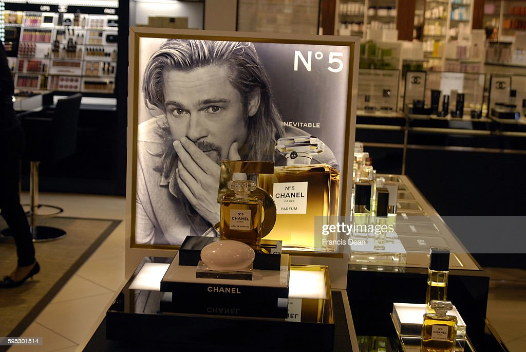 Chanel No.5 Brad pitt chanel no.5 on sle in Copenhagen : News Photo