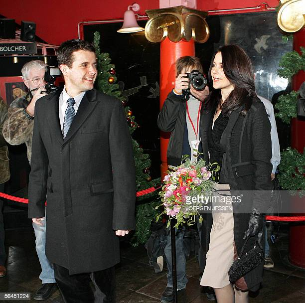 Crown Prince Frederik and Crown Princess Mary of Denmark arrive 18 December 2005 at the Circus Building in Copenhagen to attend a Danish Red Cross...