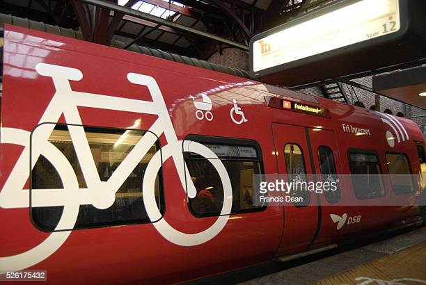 Copenhagen / Denmark DBS local train offers free internet adn transporting cycle or bicyle of bike and child pram and able to transport disable...