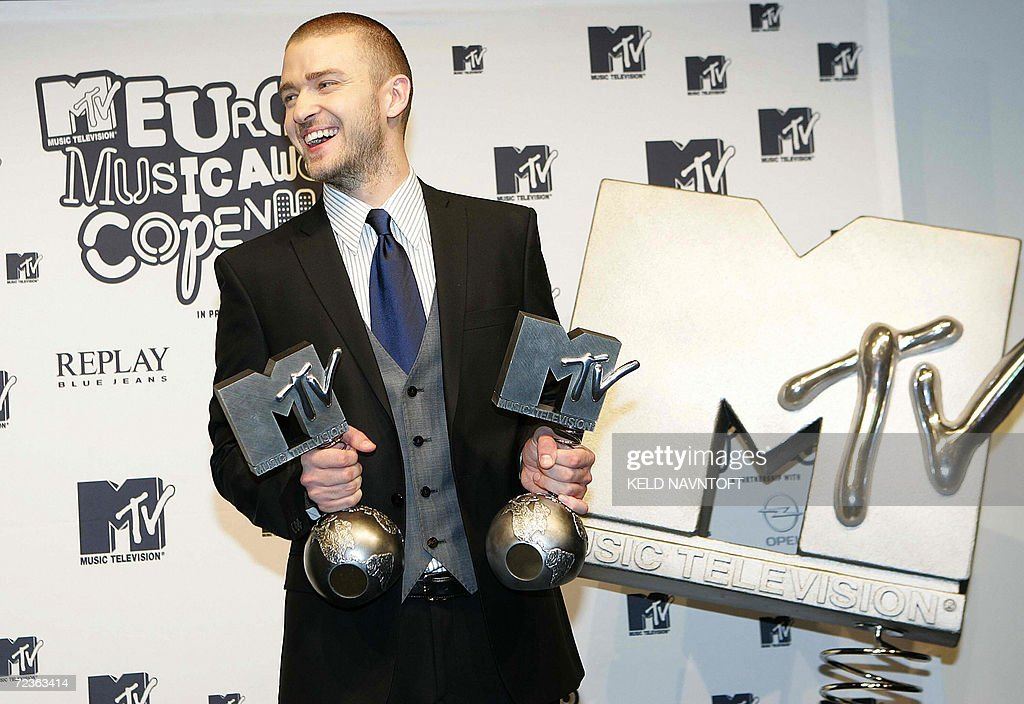 2006 host Justin Timberlake won two awards in Copenhagen.