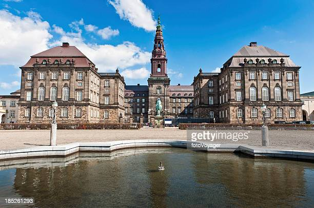 copenhagen folketing parliament christiansborg palace - denmark stock pictures, royalty-free photos & images