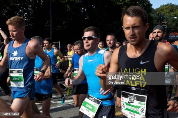 Copenhagen Half Marathon begins on September 17 2017 in Copenhagen Denmark The race was called off minutes after the first runner arrived at the...