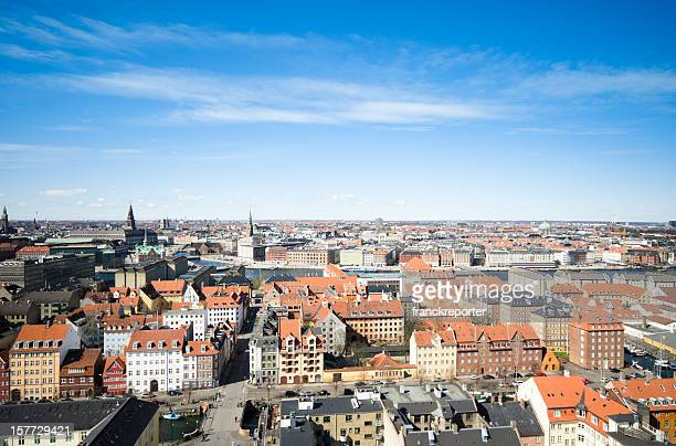 Copenhagen high view skyline