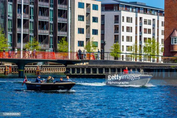 copenhagen leisure boats - waterfront stock pictures, royalty-free photos & images