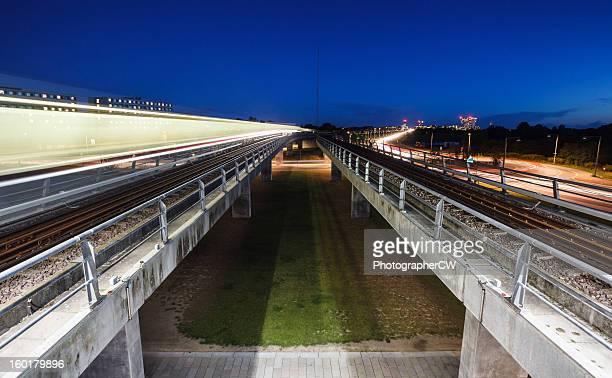 Copenhagen metro at night