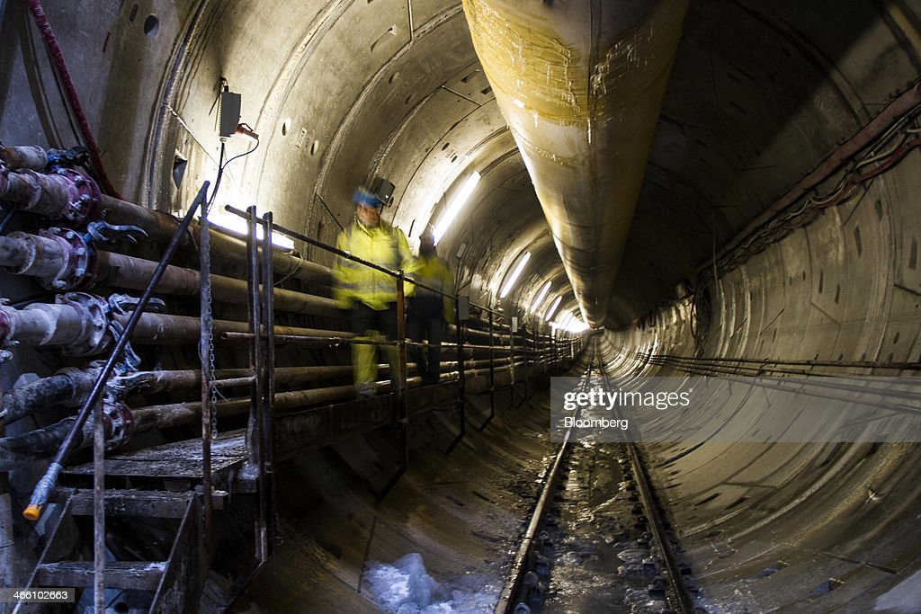 Construction Of New Copenhagen Metro Line : News Photo