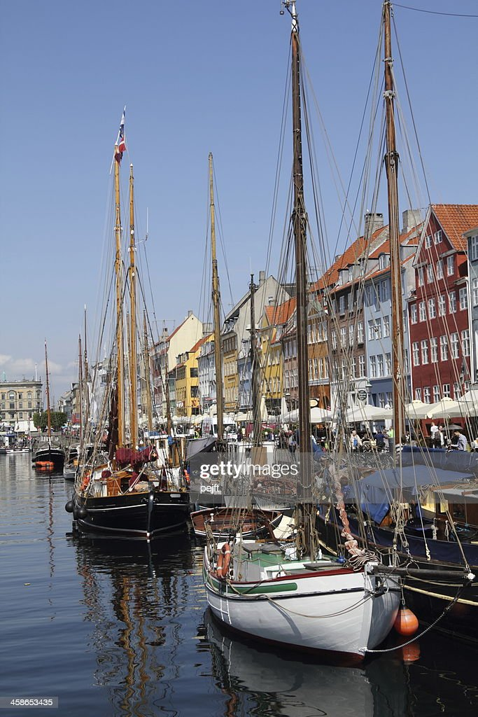 Copenhagen, Nyhavn : Stock Photo