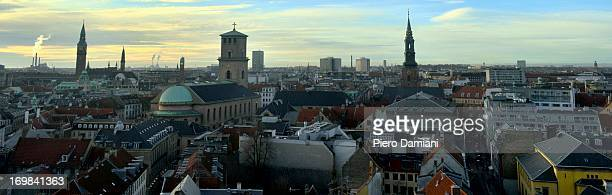 copenhagen panorama - oresund region stock photos and pictures