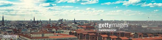 Copenhagen panoramic aerial view