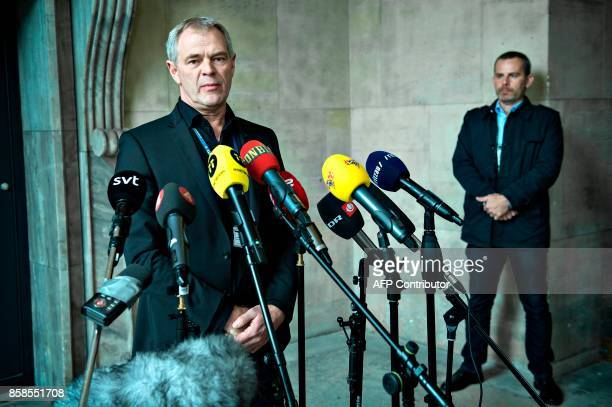 Copenhagen Police Chief Investigator Jens Moeller Jensen gives a press briefing in connection with new findings in the case against submarine captain...