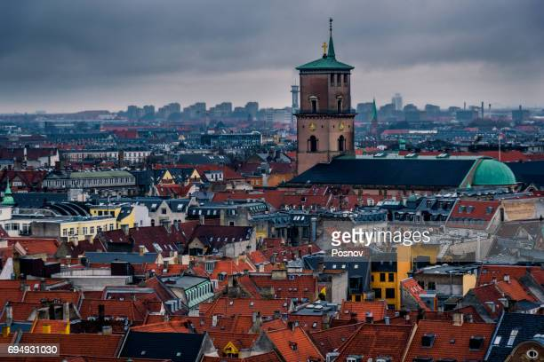 copenhagen roof tops - christiansborg palace stock pictures, royalty-free photos & images