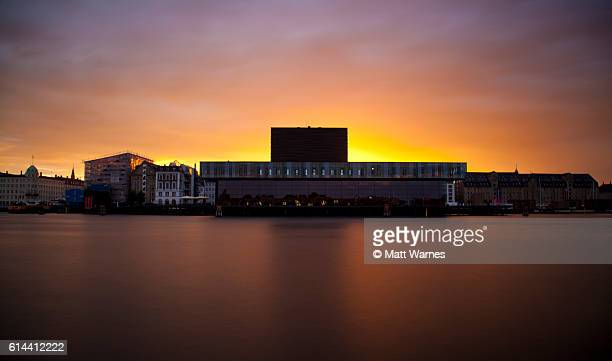copenhagen skuespilhuset - royal danish playhouse - oresund region stock photos and pictures