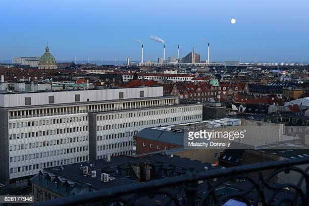 copenhagen skyline - incinerator stock photos and pictures