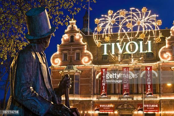 Copenhagen Tivoli Gardens amusement park Hans Christian Andersen Rådhuspladsen Denmark