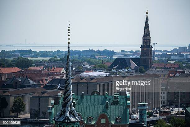 Copenhagen towers from the tower of Christiansborg