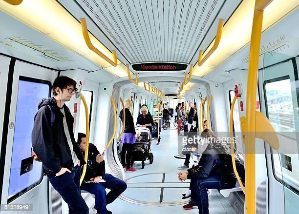 Copenhague les voyageurs en métro