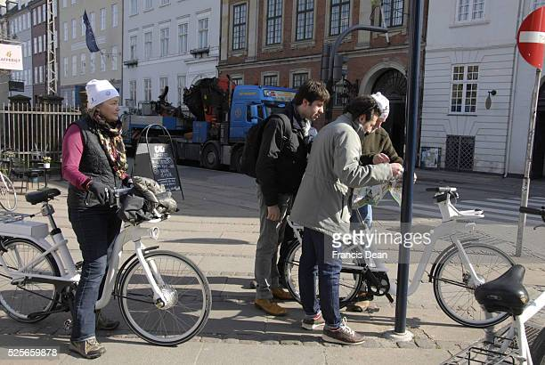 CopenhagenDenamrk It is springs in Denmark and tourists start comming to Copenhagen tourist studing Copenhagen City map 23 March 2015