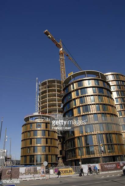 Copenhagen/Denmark/ _ 21 March 2016_Axel tower been build at Axle torv