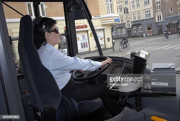 Copenhagen/Denmark/ _ 23 March 2016_Integration in Denmark Female bus driver from Albania she is married to dane bridge between two culture...