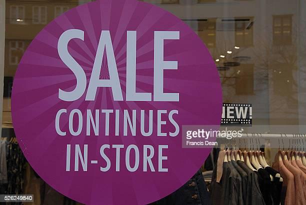Copenhagen/Denmark/ _ 27 January 2016 _ Various stores holding January sale stores like HM Topshop Illum Beneton and others