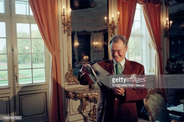 Copenhague Danemark octobre 1996 Rendezvous avec la reine Margrethe de Danemark et son mari le prince Henrik à l'occasion de la publication des...