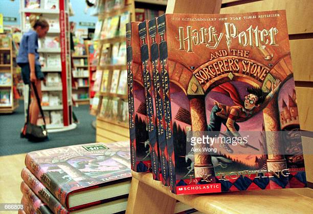 Copies of author J K Rowling's Harry Potter series story books sit in a bookstore July 6 2000 in Arlington Va Rowling's fourth book 'Harry Potter and...