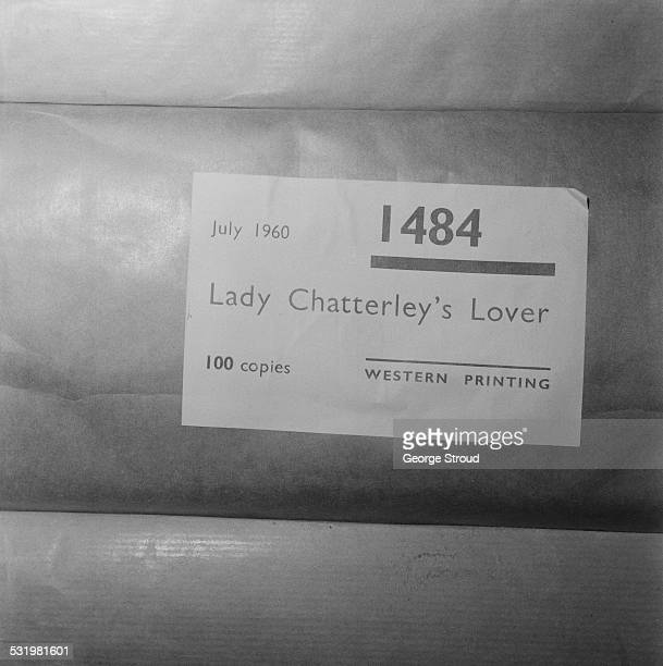 Copies of D H Lawrence's 'Lady Chatterley's Lover' waiting to be shipped after the unsuccessful public prosecution at the Old Bailey of Penguin Books...