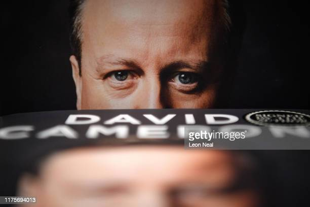 """Copies of """"For The Record"""", the autobiography of Britain's former Prime Minister David Cameron, is seen on display in Waterstones book store on..."""
