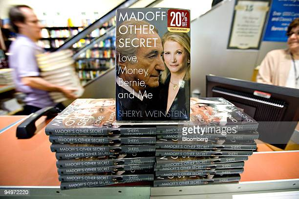 Copies of Madoff's Other Secret Love Money Bernie and Me by Sheryl Weinstein sit on display in a Barnes Noble in New York US on Tuesday Aug 25 2009...