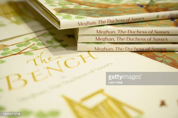 """Copies of Meghan Markle's book """"The Bench"""" on a display in Europe's largest bookstore Waterstones Piccadilly, on June 08, 2021 in London, England...."""