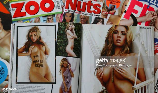 Copies of mens magazines FHM Zoo Nuts Front and Loaded