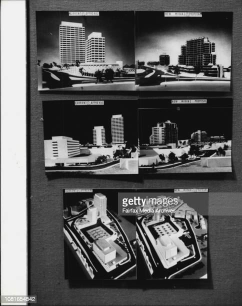 Copies of pictures of the current and new proposal's for the Edgecliffe development at Woollahra Council chambers today August 27 1980