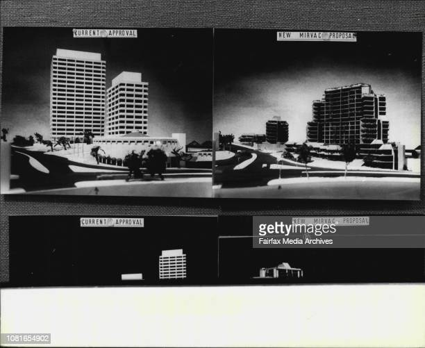 Copies of pictures of the current and new proposal's for the Edgecliffe development at the Woollahra Council Chambers today August 27 1980