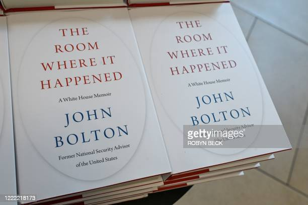 "Copies of the book ""The Room Where it Happened"" a memoir by former US national security advisor John Bolton are for sale at Barnes & Noble in..."