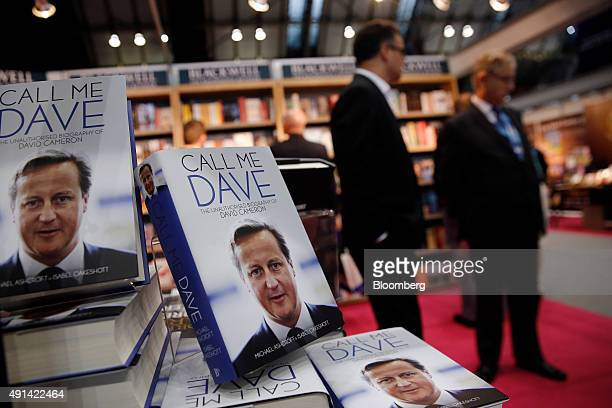 Copies of the 'Call me Dave' biography of David Cameron UK prime minister by Michael Ashcroft former Conservative Party Deputy Chairman and Treasurer...