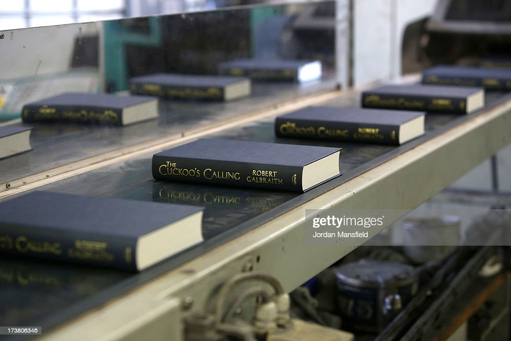 Copies of The Cuckoo's Calling make their way down the production line on July 18, 2013 in Bungay, England. JK Rowling has recently been uncovered as the secret author of the new book 'The Cuckoo's Calling' after being published by Sphere under the pseudonym of 'Robert Galbraith.' Since the revelation, sales of the book have soared and the printers of the book, Clays, have had to start reprinting the book in large numbers.