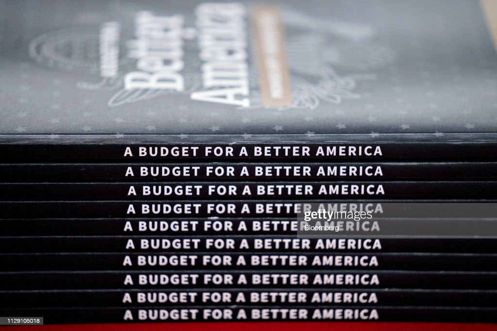Production Of President Trump's Fiscal Year 2020 Budget : News Photo