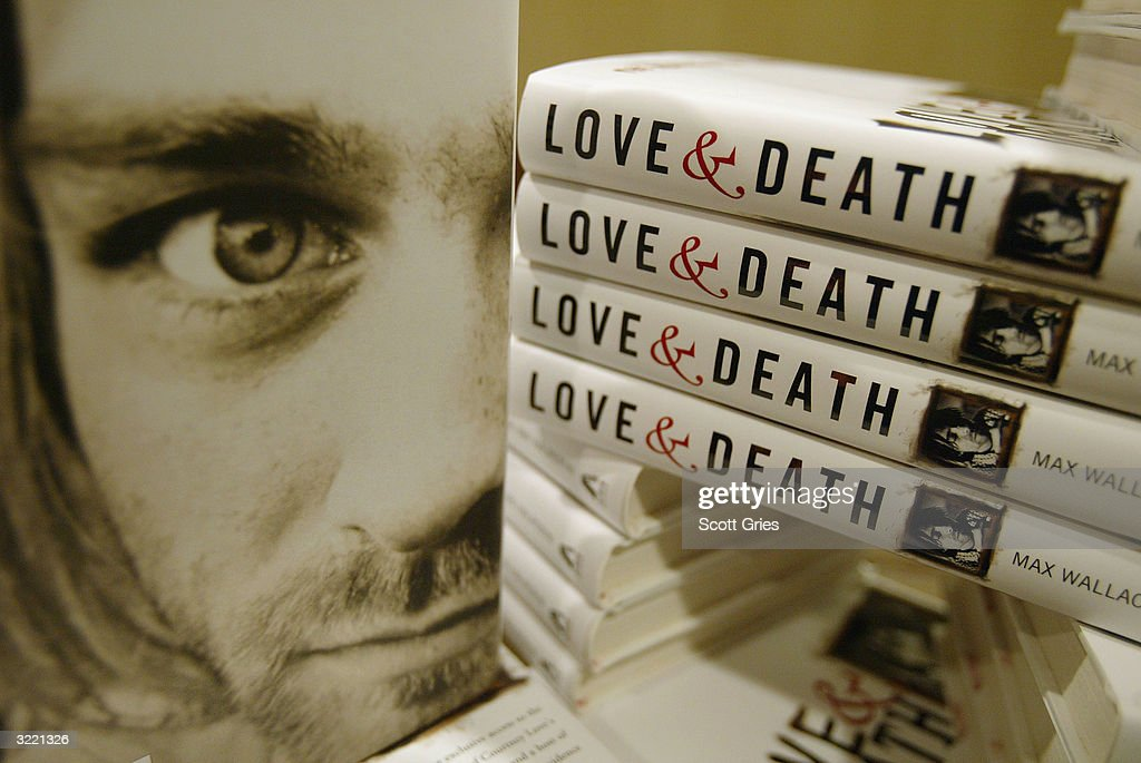 Copies of the new book 'Love And Death: The Murder Of Kurt Cobain' sit in a pile during a press conference at the Hilton Times Square April 5, 2004 in New York City.
