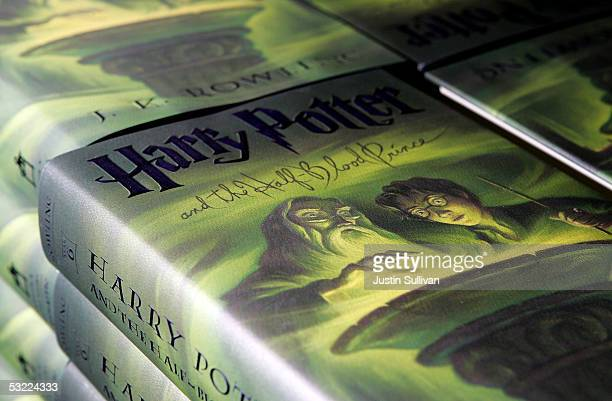 Copies of the new Harry Potter and the Half Blood Prince by author J K Rowling are seen at the Amazoncom shipping facility July 11 2005 in Fernley...