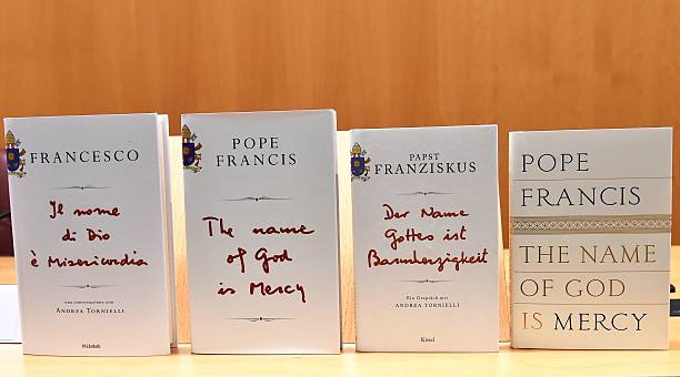 Copies Of The Pope Francis Interview Books The Name Of God Is