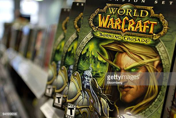 Copies of the 'World of Warcraft' computer video game sit on display inside a Best Buy store in New York, Friday, May 11,2007. Nvidia Corp. Shares...