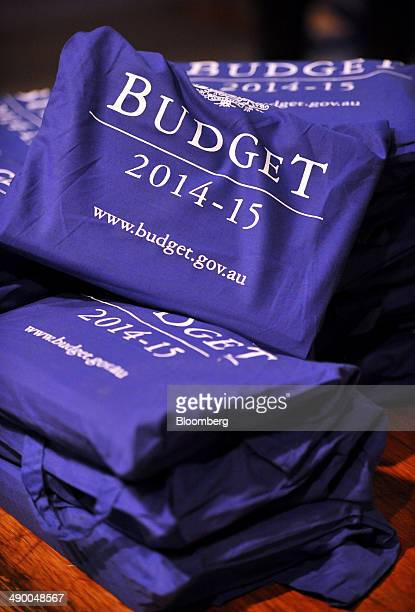 Copies of treasury documents sit in carry bags in the budget lockup at Parliament House in Canberra Australia on Tuesday May 13 2014 Australia will...