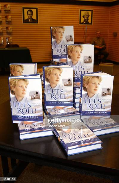 Copies of widow Lisa Beamer's new book Let's Roll Finding hope in the midst of crisis are displayed at Barnes Noble Westside Pavilion on August 21...