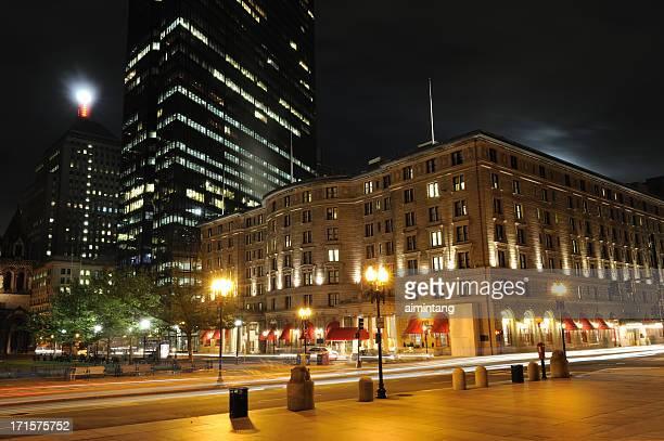 copley square in boston - copley square stock-fotos und bilder