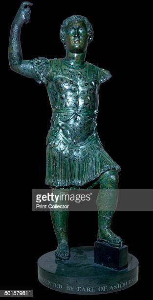 Copper alloy statuette of Nero in the guise of Alexander the Great Roman Britain 1st century AD Found at Barking Hall Barking Suffolk England From...