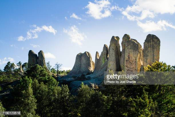 copper canyon rock formations - pine woodland stock pictures, royalty-free photos & images